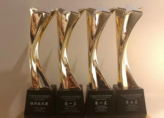 我校帆船代表队荣获四项大奖