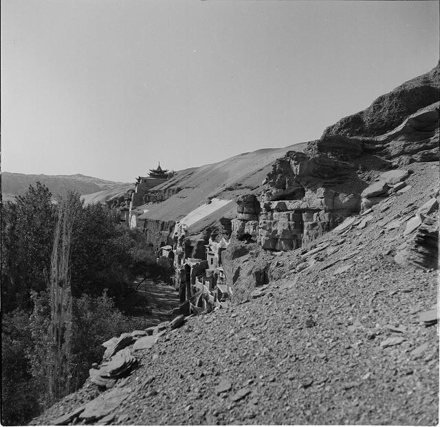莫高窟南区全景-1955年