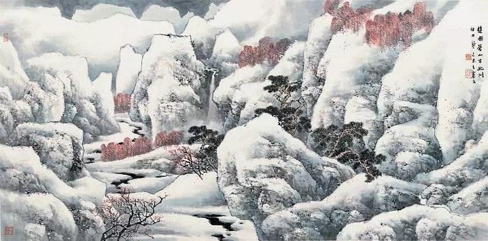 冬 2015年 纸本设色 68.2×137.4cm