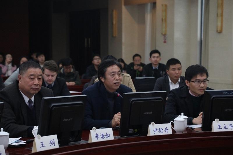 尹衍升教授介绍宝钢和学校合作历史及联合实验室情况
