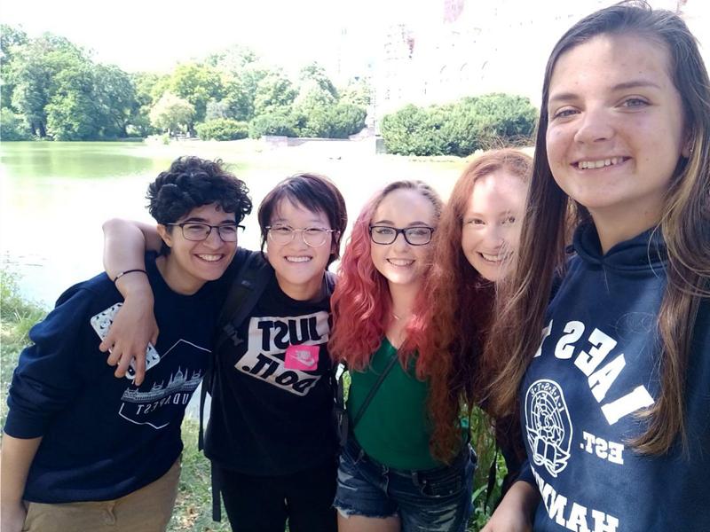 学生在德国汉堡工业大学(爱因斯特海外实习项目)