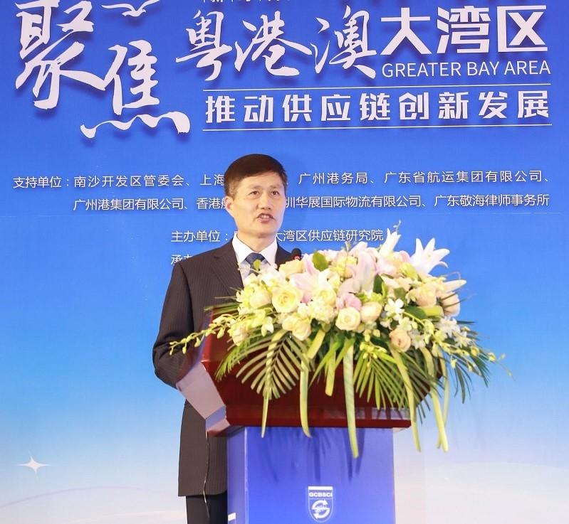 南沙开发区管委会副主任潘玉璋致辞