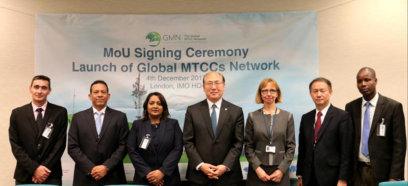 在国际海事组织出席GMN联盟正式成立仪式上