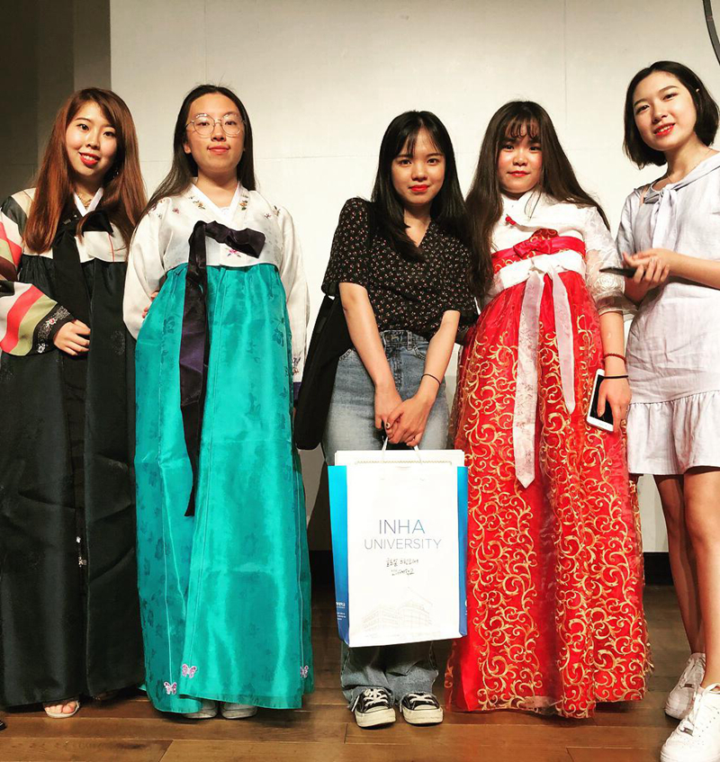 韩服体验(韩国仁荷大学暑期学习项目)