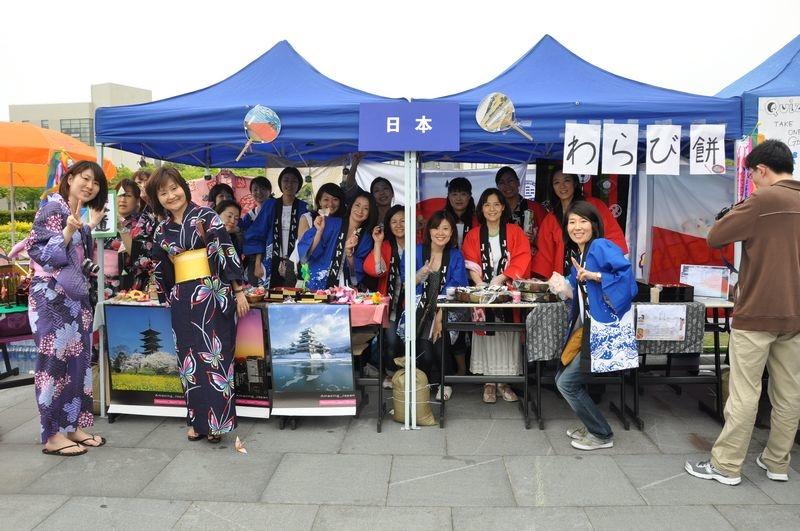 第五届文化节在美丽的海大校园遍览五洲风情