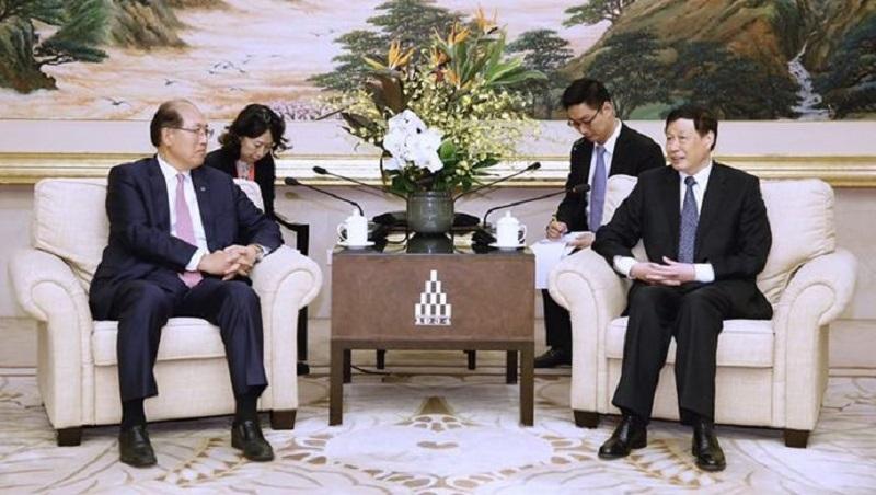 上海市市长应勇会见国际海事组织秘书长林基泽一行,对MTCC-Asia落户上海表示祝贺