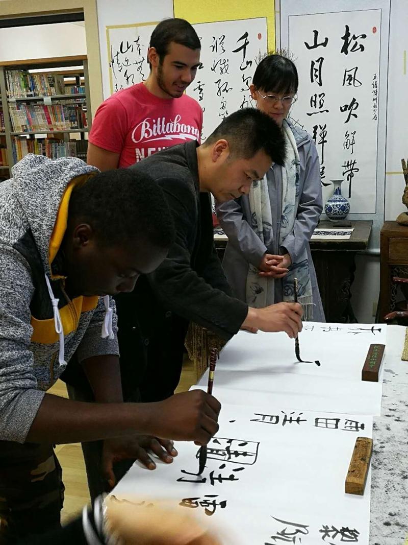 跟着中国老师许宁云学书法