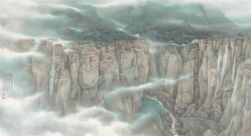 红石峡云起