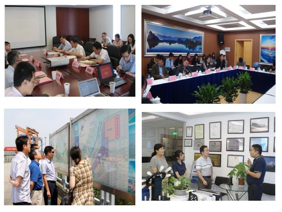 研究基地工作室成员开展研讨和调研