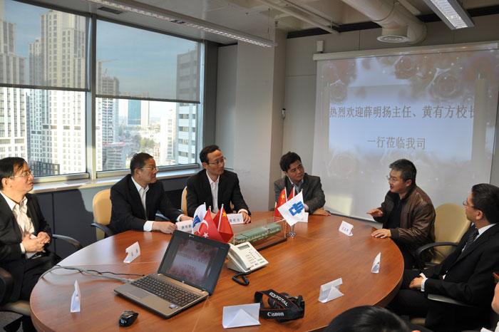 黄有方校长陪同薛明扬主任考察中海集团土耳其公司