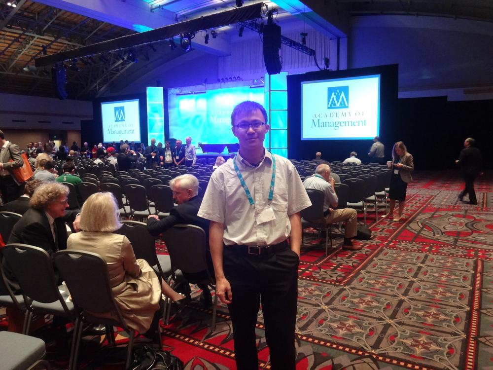 陈扬老师在2014美国管理学年会(费城)
