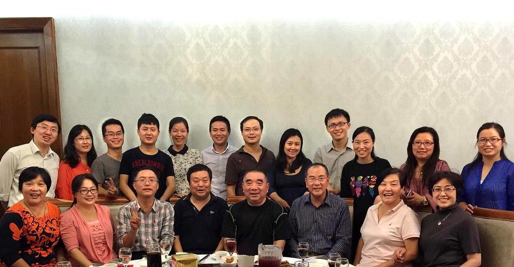 与上海市航运管理系列课程教学团队老师一起欢送老教授荣退