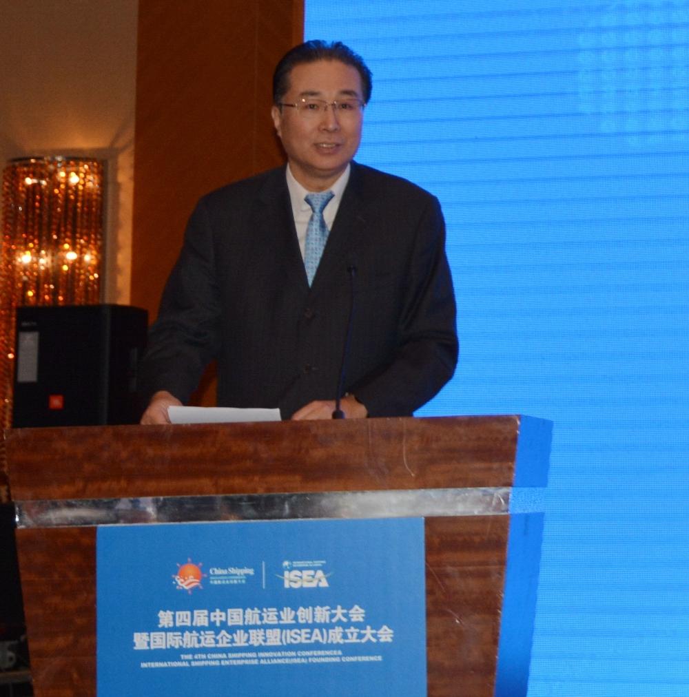 中国交通运输协会副秘书长、中国航务周刊社长倪玮致欢迎辞