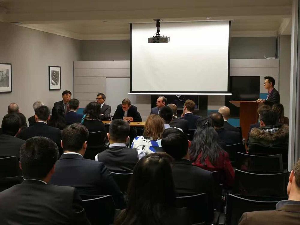 伦敦华人航运协会第一次研讨会会场