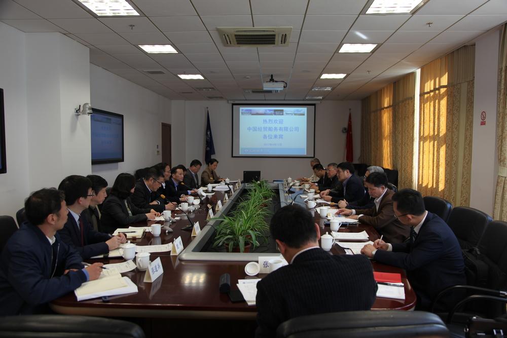 中国经贸船务有限公司总经理李甄一行来校调研