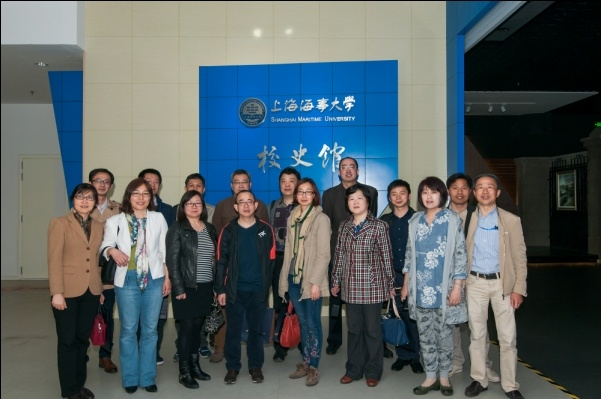 与会盟员参观上海海事大学校史馆
