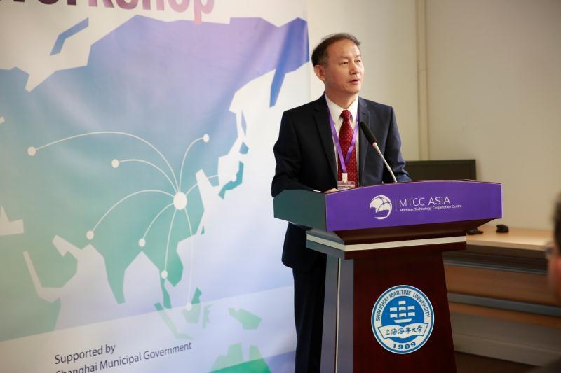 上海海事大学党委书记、MTCC-Asia主席金永兴致欢迎辞