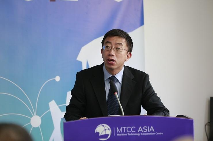 上海海事大学副校长、MTCC-Asia执行主席施欣副校长主持开幕式