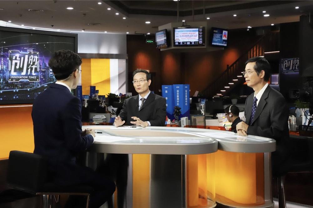 黄有方校长接受上海电视台大型科创栏目《创时代》专题采访