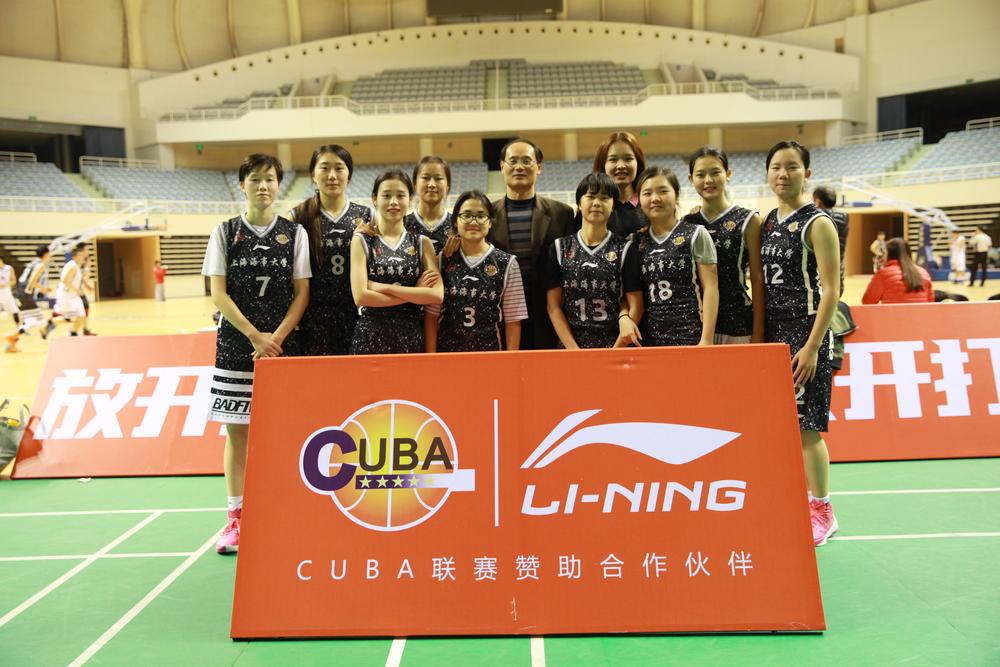 由邵老师带队的我校女篮去年获CUBA中国大学生篮球联赛上海赛区冠军