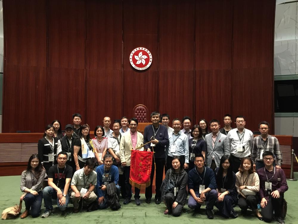 我校香港校友会拜访香港立法会议员黄国健校友