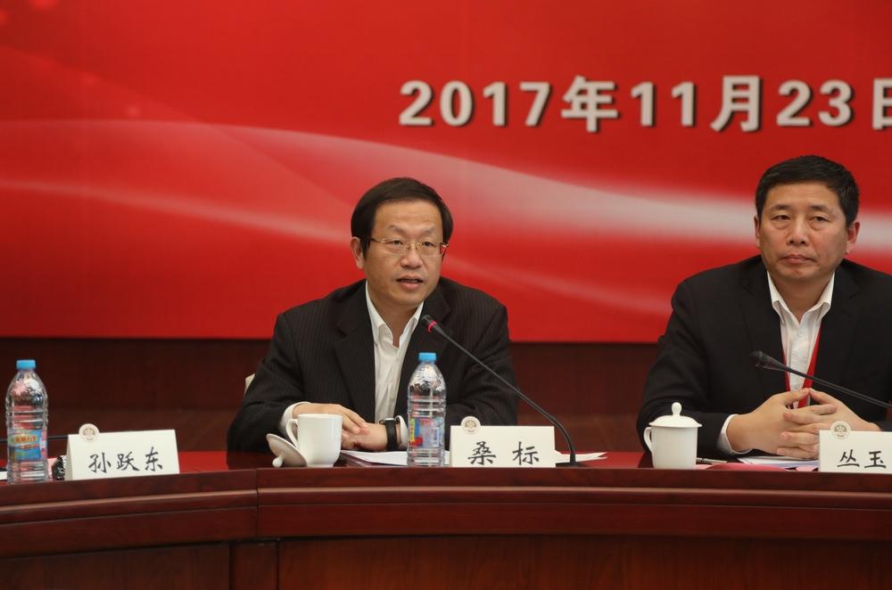 上海市教育委员会高教处处长桑标发言