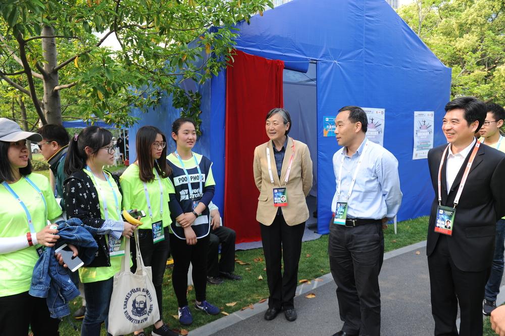 王海威副校长慰问我校射箭世界杯志愿者