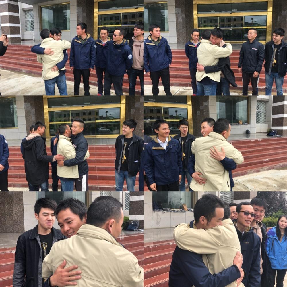 王海威与西藏工作毕业生告别