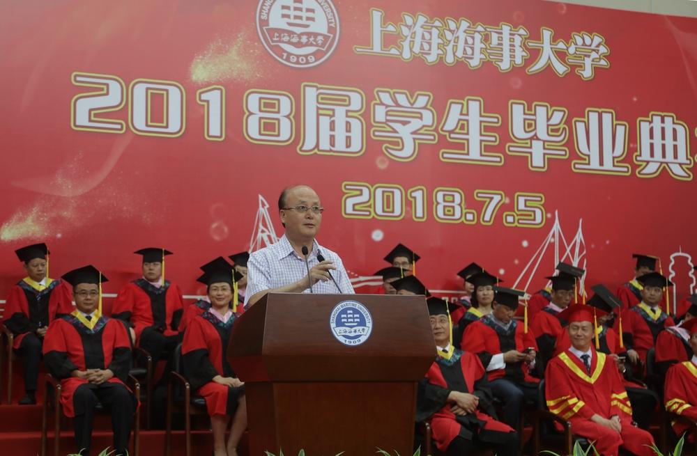 校友代表1983届毕业生、中国交通建设股份有限公司党委常委、执行董事、财务总监、总法律顾问傅俊元发言