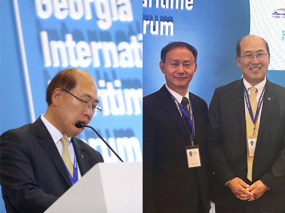 国际海事组织秘书长林基泽致辞并会见金永兴书记