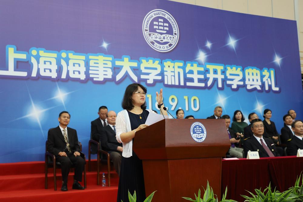 导师代表、物流科学与工程研究院梁承姬教授发言