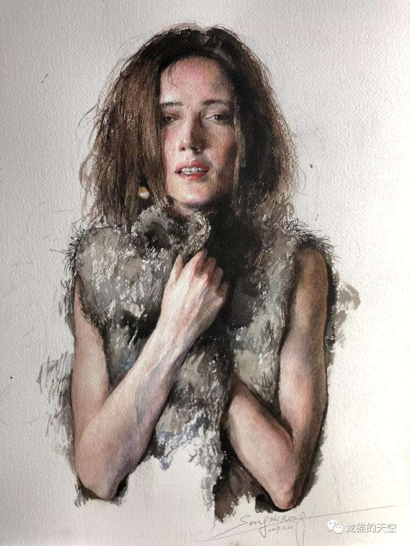 《莎乐美》——纸面水彩