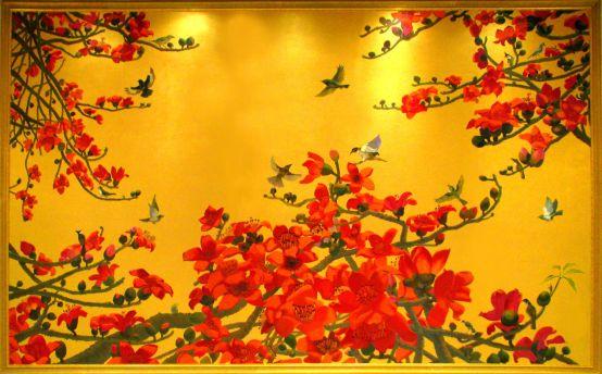 壁画 木棉花