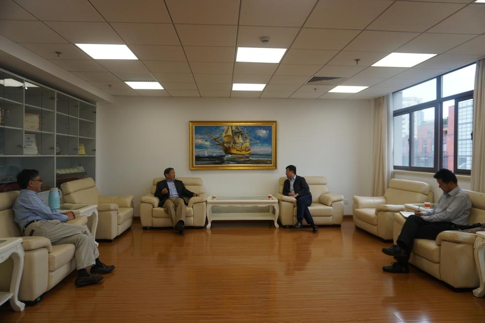 宋宝儒书记会见世界海事大学副校长马硕教授