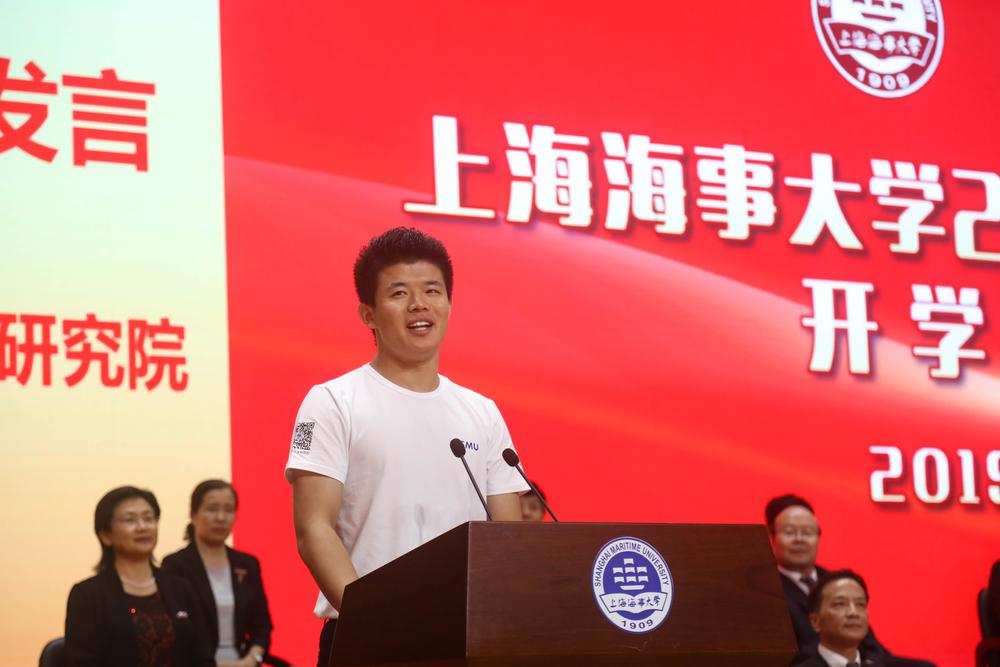 研究生新生代表、物流科學與工程研究院徐振宇發言