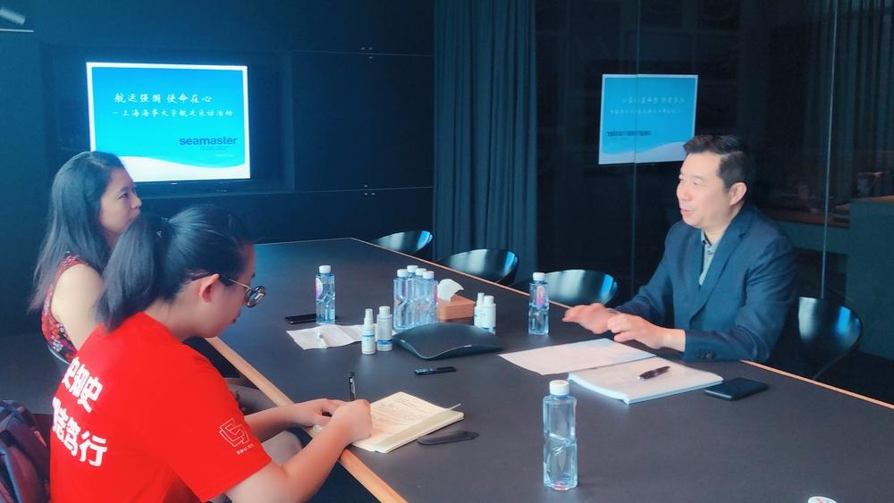 采访上海菁英航运经纪有限公司董事长季文元