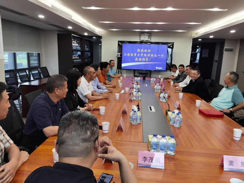 陆靖校长一行走访珠海九洲蓝色干线投资控股有限公司