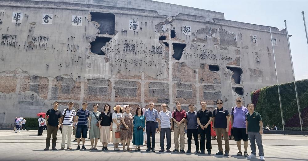 民进会员参观四行仓库抗战纪念馆