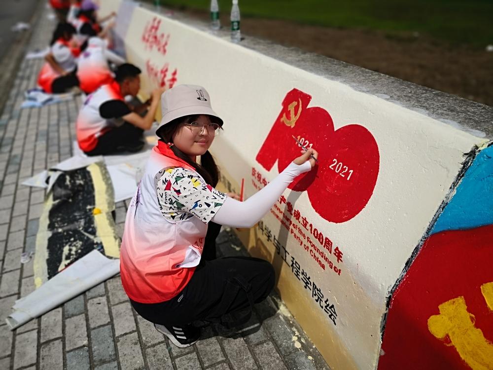 墙绘版块一:庆祝建党百年专区