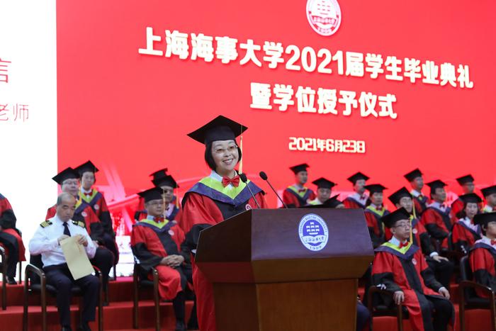 教师代表、物流工程学院张琴老师发言